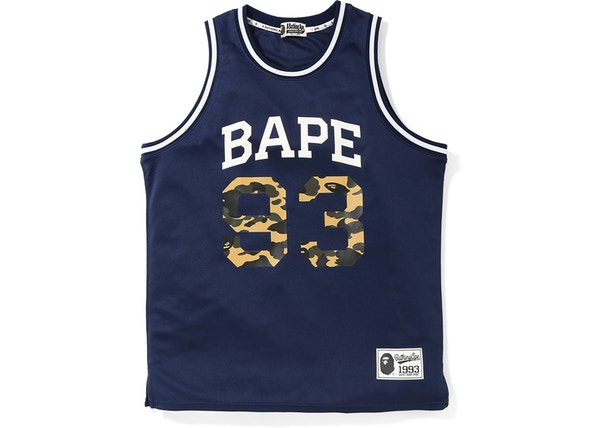 ccb1ce7f BAPE Basketball Tank Top Navy