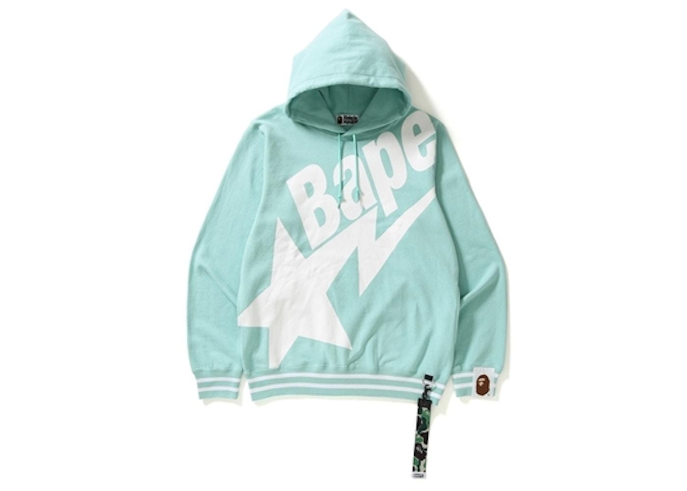 601b96c9 BAPE Big Sta Pullover Hoodie Teal -