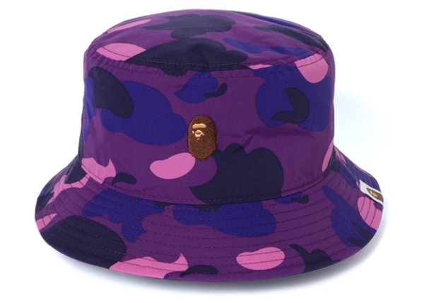 3e45f5e3 BAPE Color Camo Ape Head One Point Bucket Hat Purple