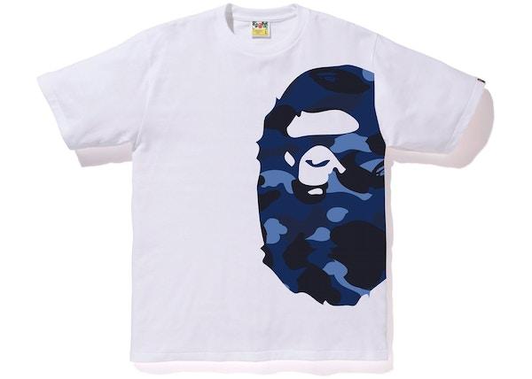 0b03d5aa1d32 BAPE Color Camo Side Big Ape Head Tee White/Blue