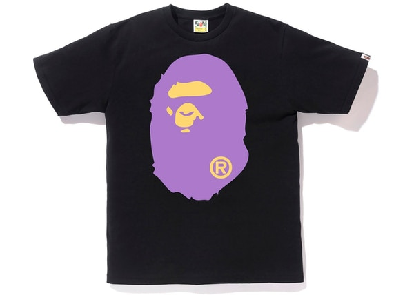4c0bfb25 BAPE Colors Big Ape Head Tee (SS19) Black