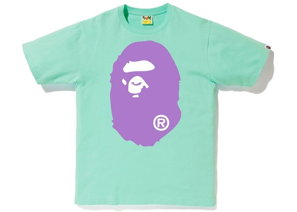98eb8d2b7 BAPE Colors Big Ape Head Tee (SS19) Green