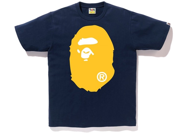 fc3f87c1 BAPE Colors Big Ape Head Tee (SS19) Navy