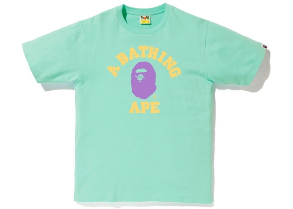 71bacb70 BAPE Colors College Tee (SS19) Green