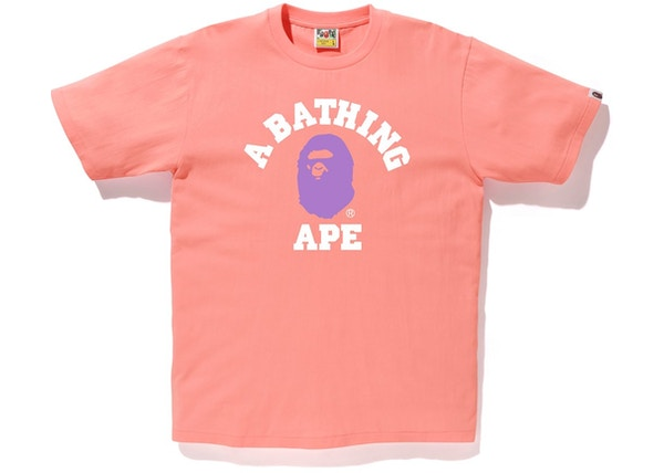 c5d63c24 BAPE Colors College Tee (SS19) Pink