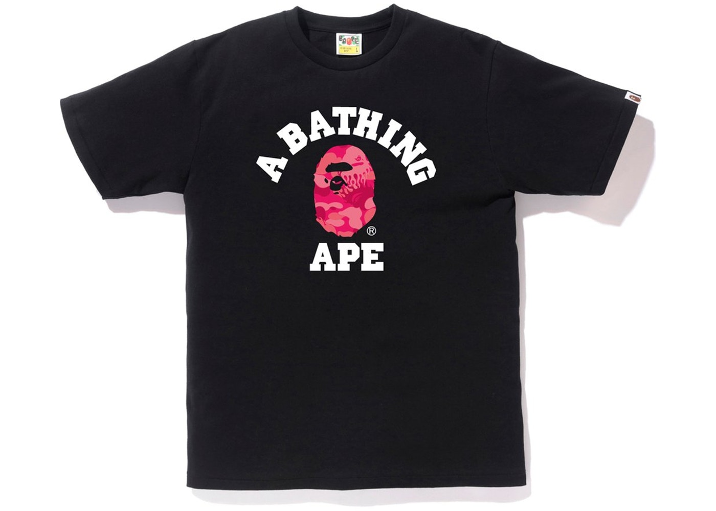 f8ea9fc1e Sell. or Ask. Size: XXL. View All Bids. BAPE Fire Camo College Tee Black/ Pink