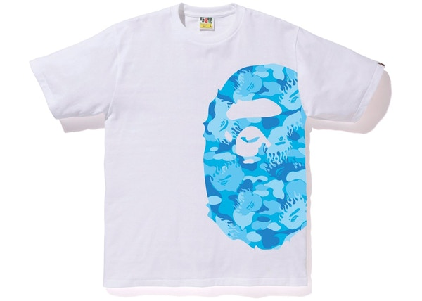29ffbd04230f BAPE Fire Camo Side Big Ape Head Tee White Blue
