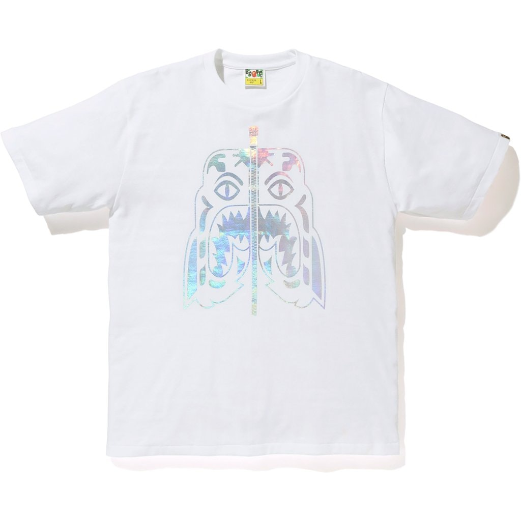 BAPE Hologram Tiger Tee White