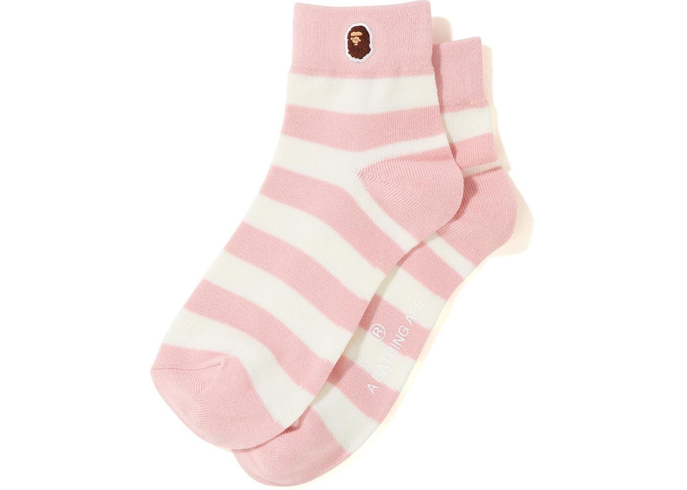 cf712678e777e BAPE Hoop Ankle Socks Pink. Hoop Ankle
