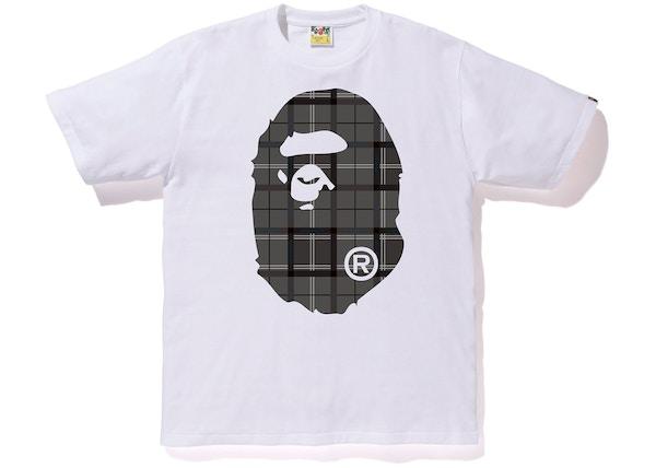 3d7fdbcd19f BAPE Logo Check Big Ape Head Tee White Black
