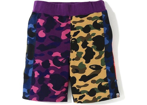 25f72f59 BAPE Mix Camo Crazy Sweat Shorts Multi