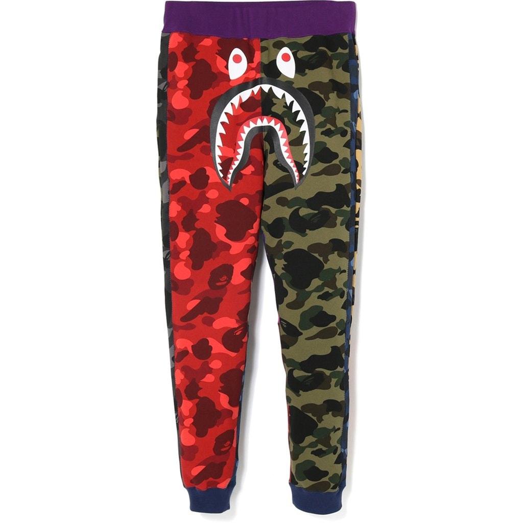 BAPE Mix Camo Shark Crazy Slim Sweat Pants Multi