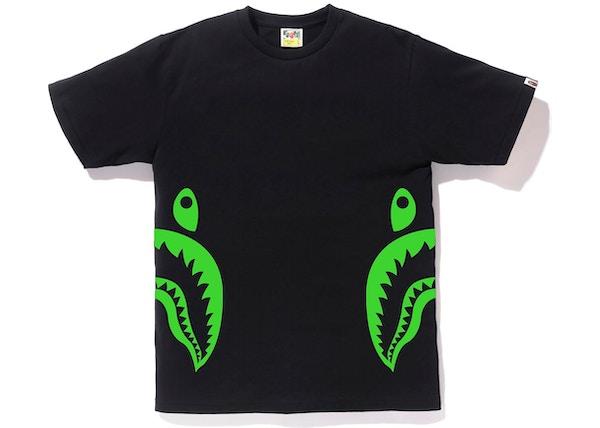 f0468d2ea BAPE Neon Bicolor Side Shark Tee Black/Green