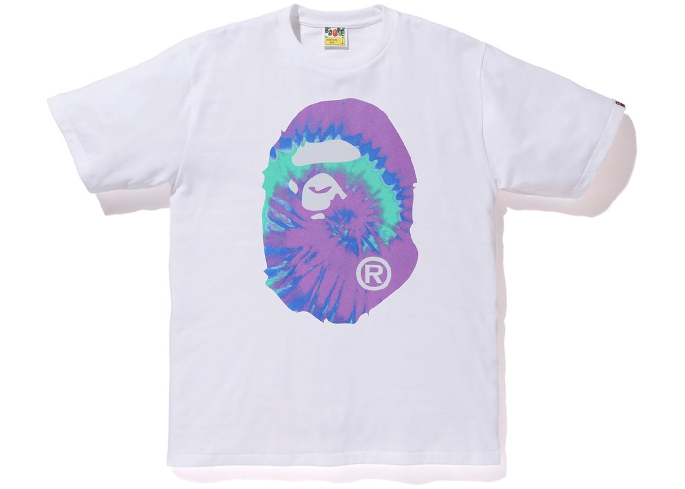 f117bce6 BAPE Pigment Tie Dye Big Ape Head Tee White/Purple - SS19