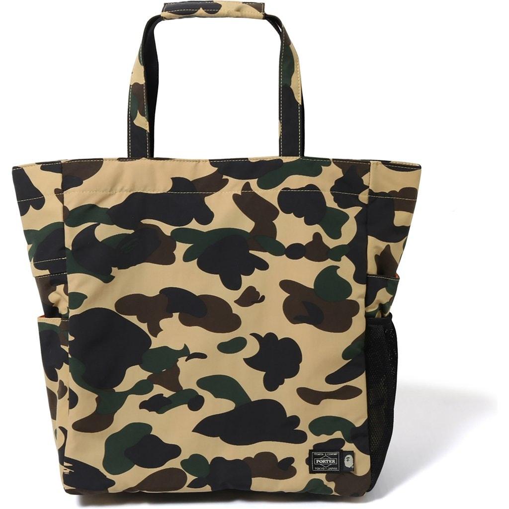 BAPE Porter 1st Camo Tote Bag (SS19) Yellow