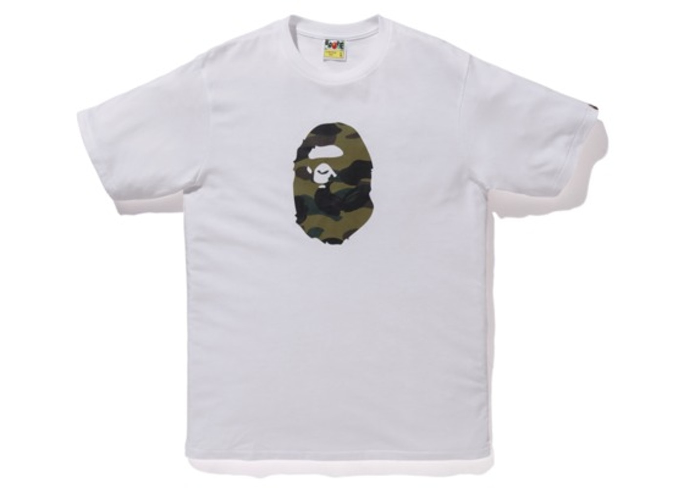927660ca BAPE Premium Summer Bag 1st Camo Ape Head Tee White/Green - SS19