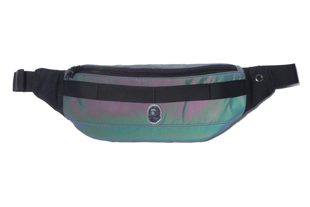 Bape Reflector Waist Bag Green