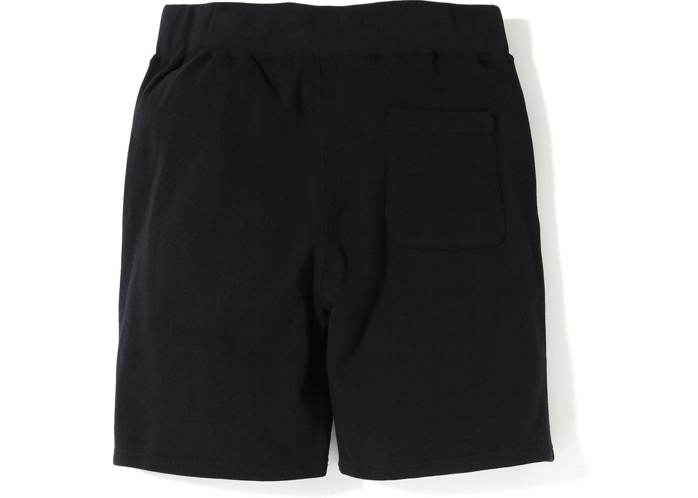 657b94b3 BAPE Sakura Sweat Shorts Black - SS19