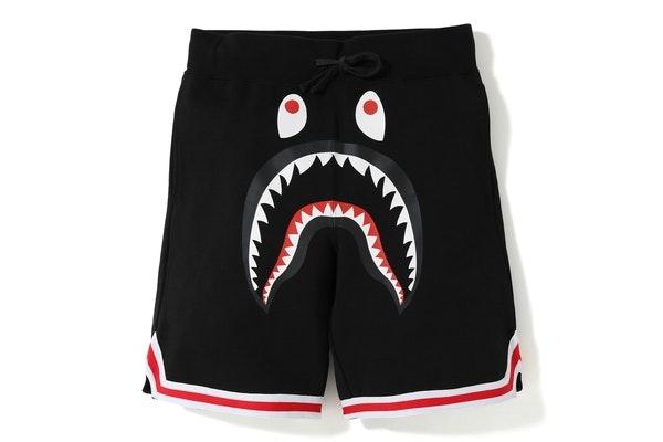 BAPE Shark Basketball Sweat Shorts Black