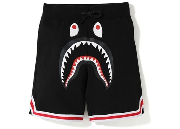 72d2bc7b4686 BAPE Shark Basketball Sweat Shorts Black