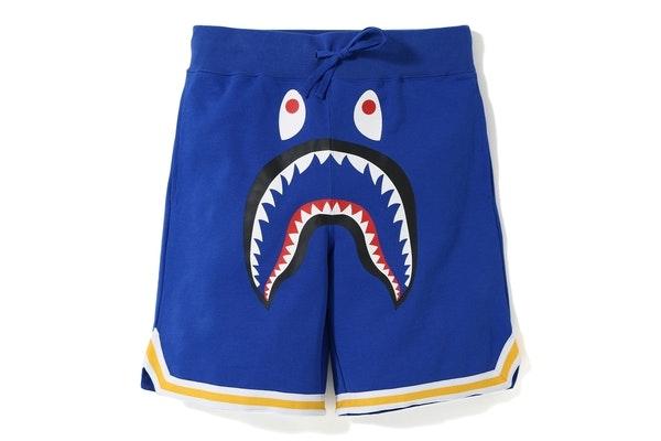 BAPE Shark Basketball Sweat Shorts Blue