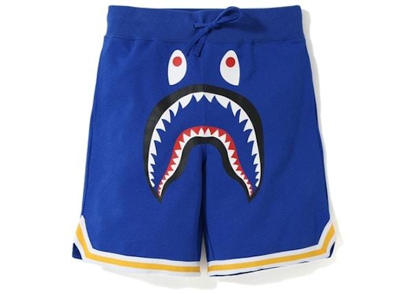 63f84dbbed86 BAPE Shark Basketball Sweat Shorts Blue