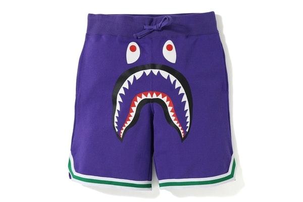 BAPE Shark Basketball Sweat Shorts Purple