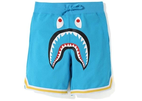 7140c6dea1cc BAPE Shark Basketball Sweat Shorts Sax