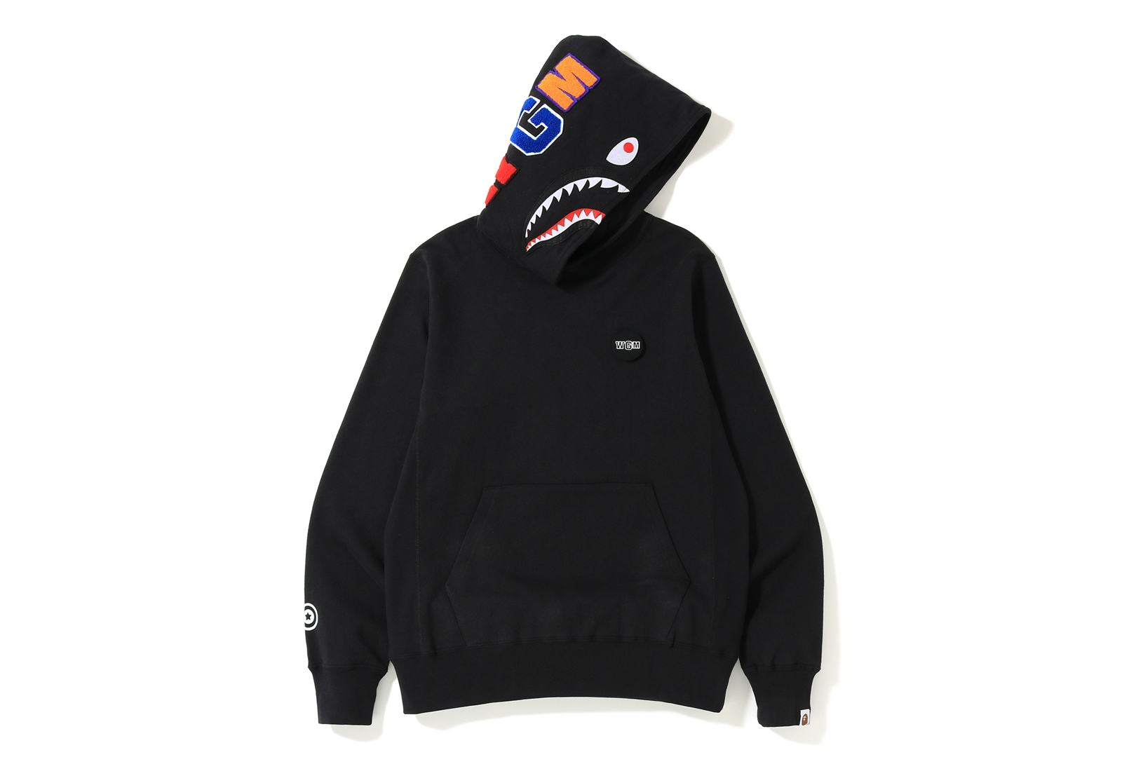 BAPE Shark Emblem Pullover Hoodie Black