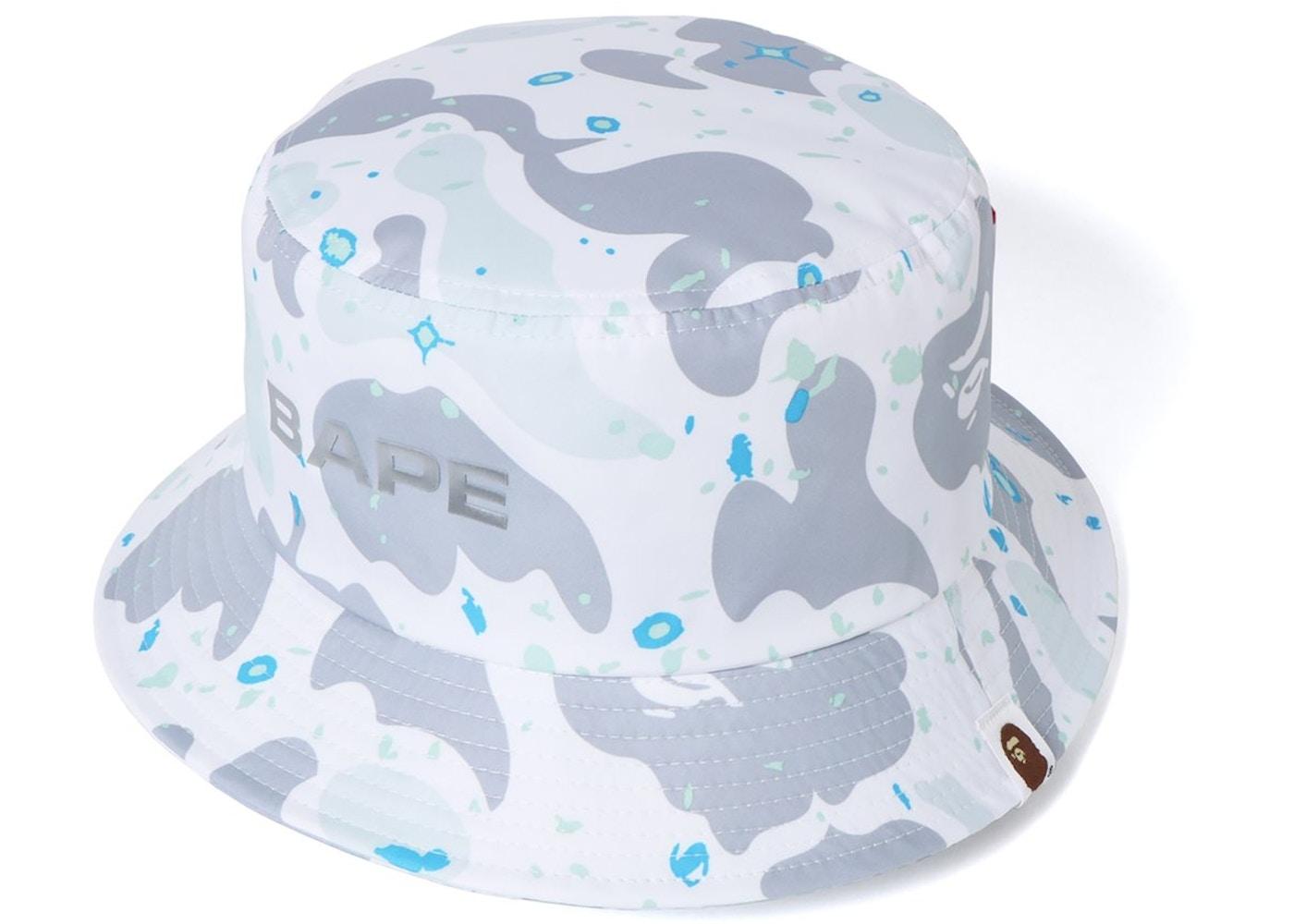 e18afe8ebc893 BAPE Space Camo Bucket Hat White - SS19