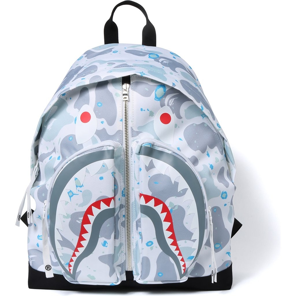 BAPE Space Camo Shark Day Pack White