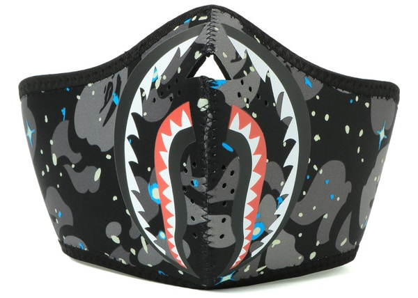 431459ba6 BAPE Space Camo Shark Mask Black