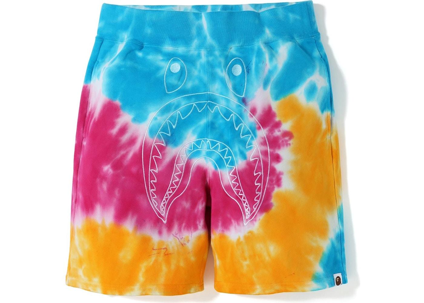 1e41f55c BAPE Tie Dye Shark Sweat (SS19) Shorts Multi - SS19