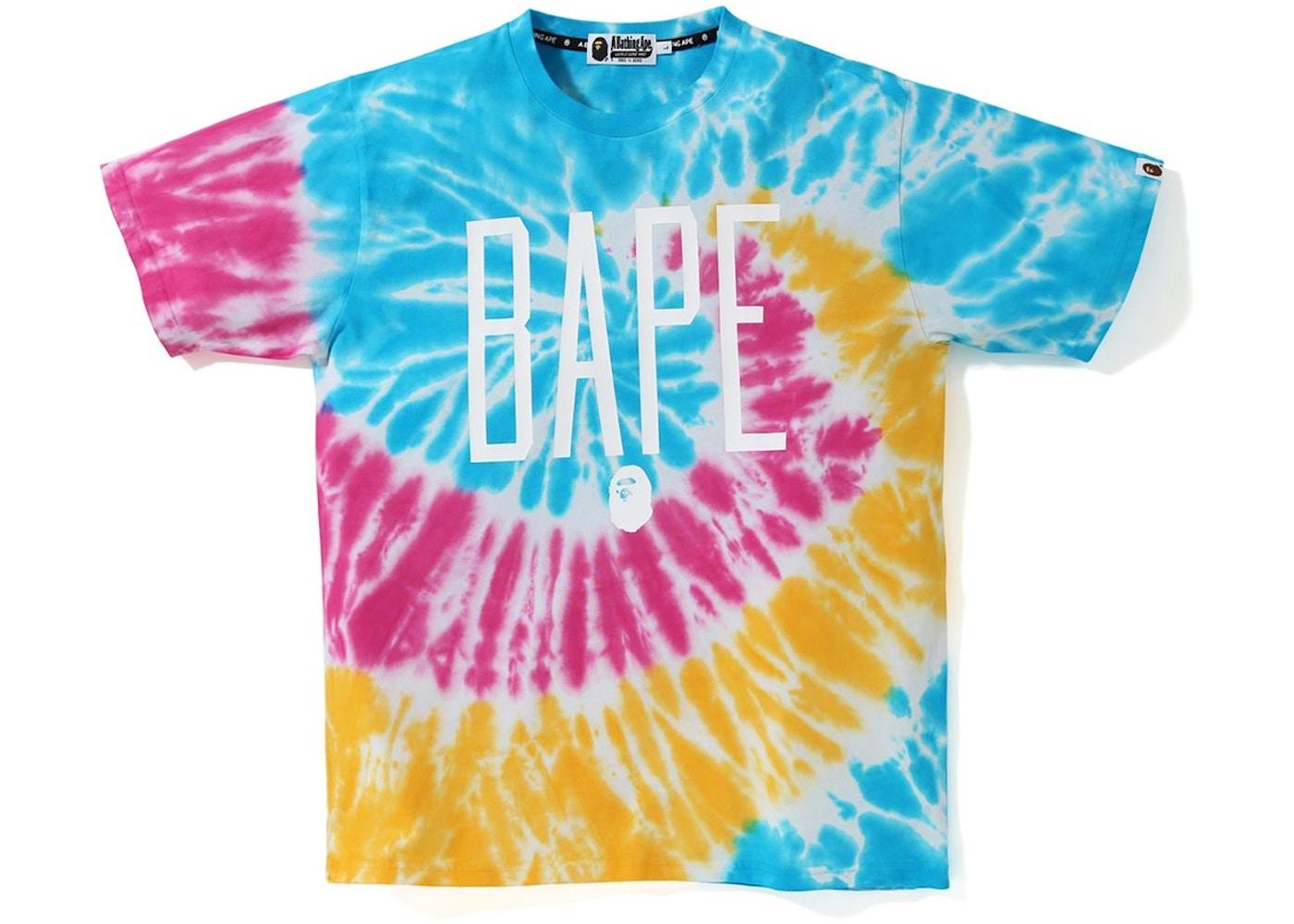 1d7b5130 BAPE Tie Dye Tee Multi - SS19