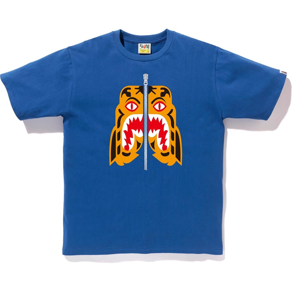 BAPE Tiger Tee Blue