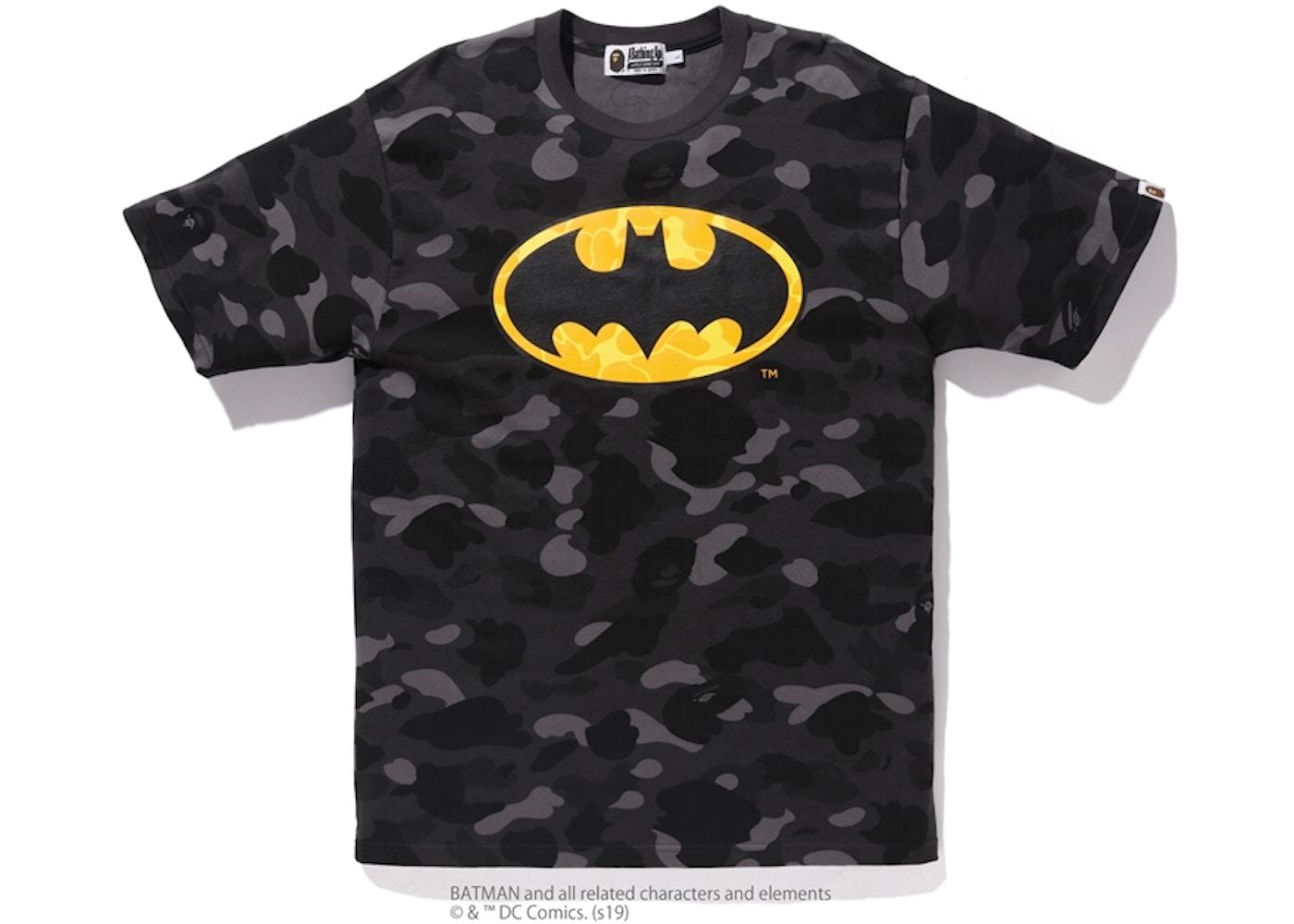 96a49249 Sell. or Ask. Size: XXL. View All Bids. BAPE x DC Batman Color Camo Tee  Black