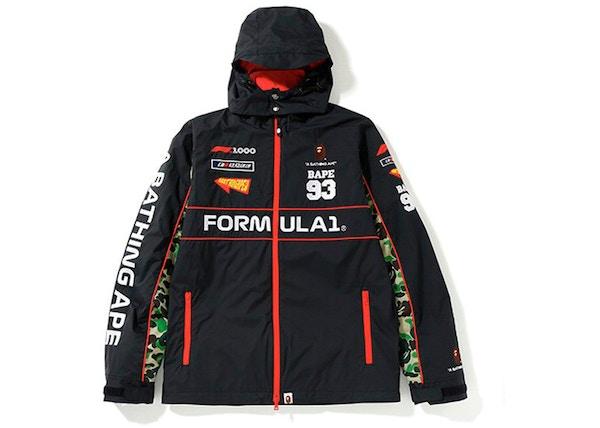 75fb7c65f BAPE x F1 1000 ABC Camo Racing Jacket Black