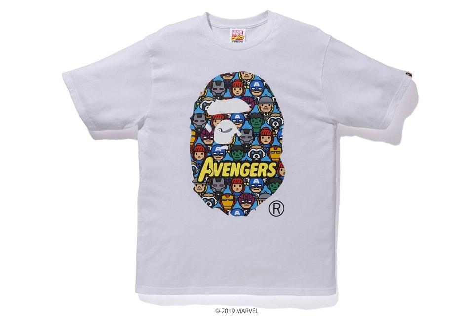 BAPE x Marvel Avengers Ape Head Tee White