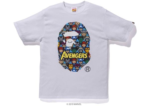 29db77d2a BAPE x Marvel Avengers Ape Head Tee White