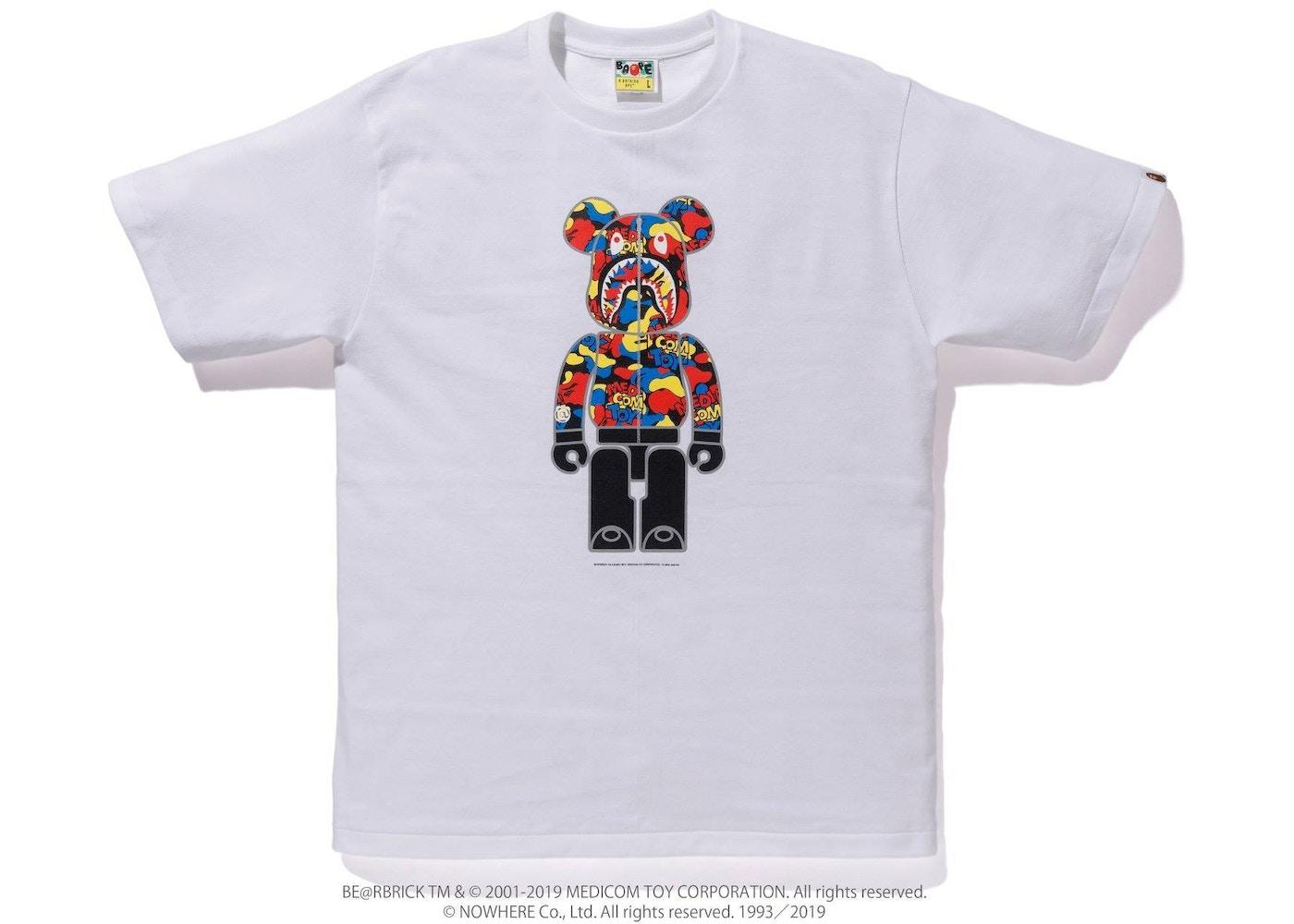 1fa6ca01 BAPE x Medicom Toy Camo Bear Tee White - FW19