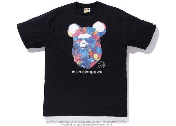 f99913c9 BAPE x Mika Ninagawa Bear Ape Head Tee Black