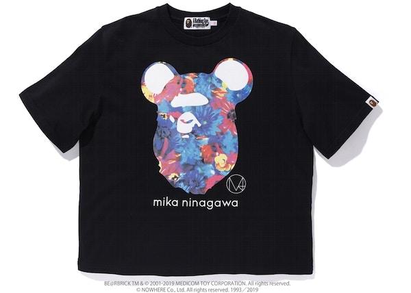 d3ae6fac BAPE x Mika Ninagawa Bear Ape Head Wide Tee Black
