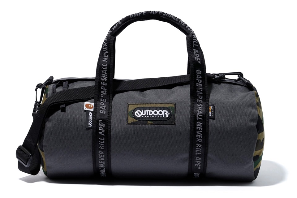 Bape X Outdoors Products Drum Bag Grey