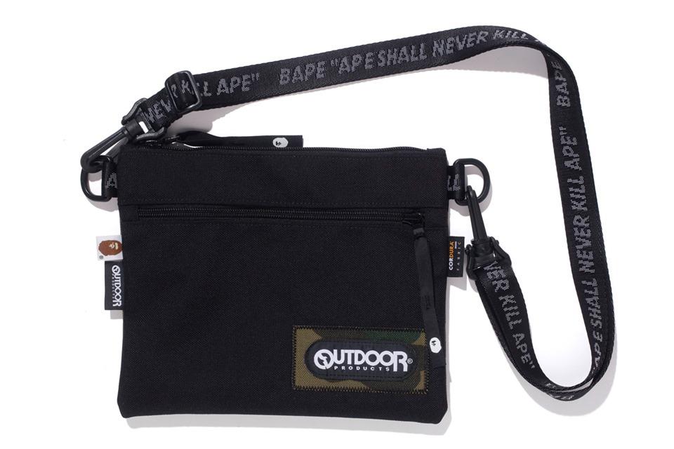 Bape X Outdoors Products Mini Shoulder Bag Black