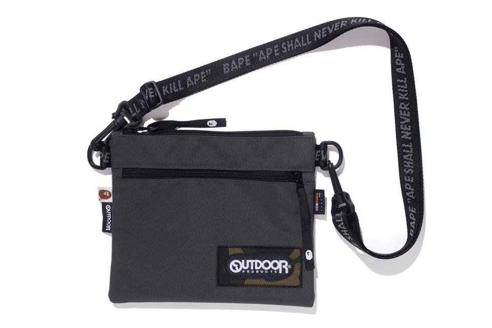 Bape X Outdoors Products Mini Shoulder Bag Grey