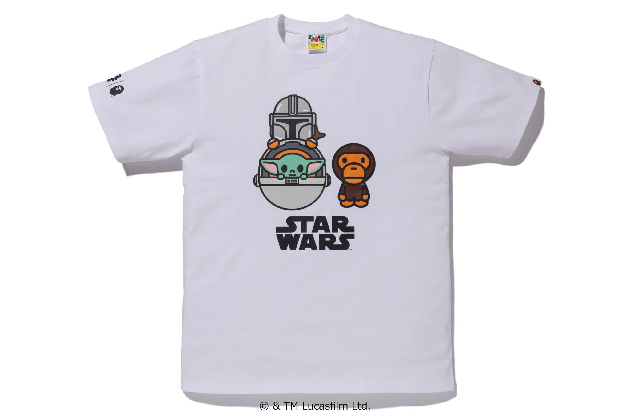 BAPE x Star Wars The Child Cargo Baby Milo Tee White