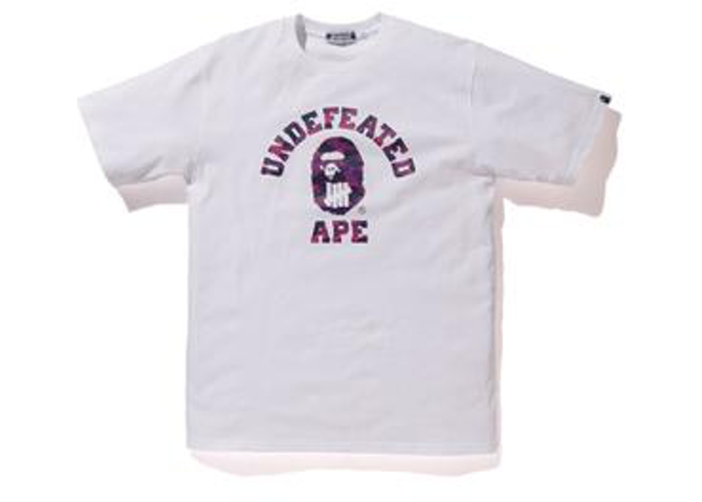 cb6a0435f BAPE x Undefeated Color Camo College Tee White -