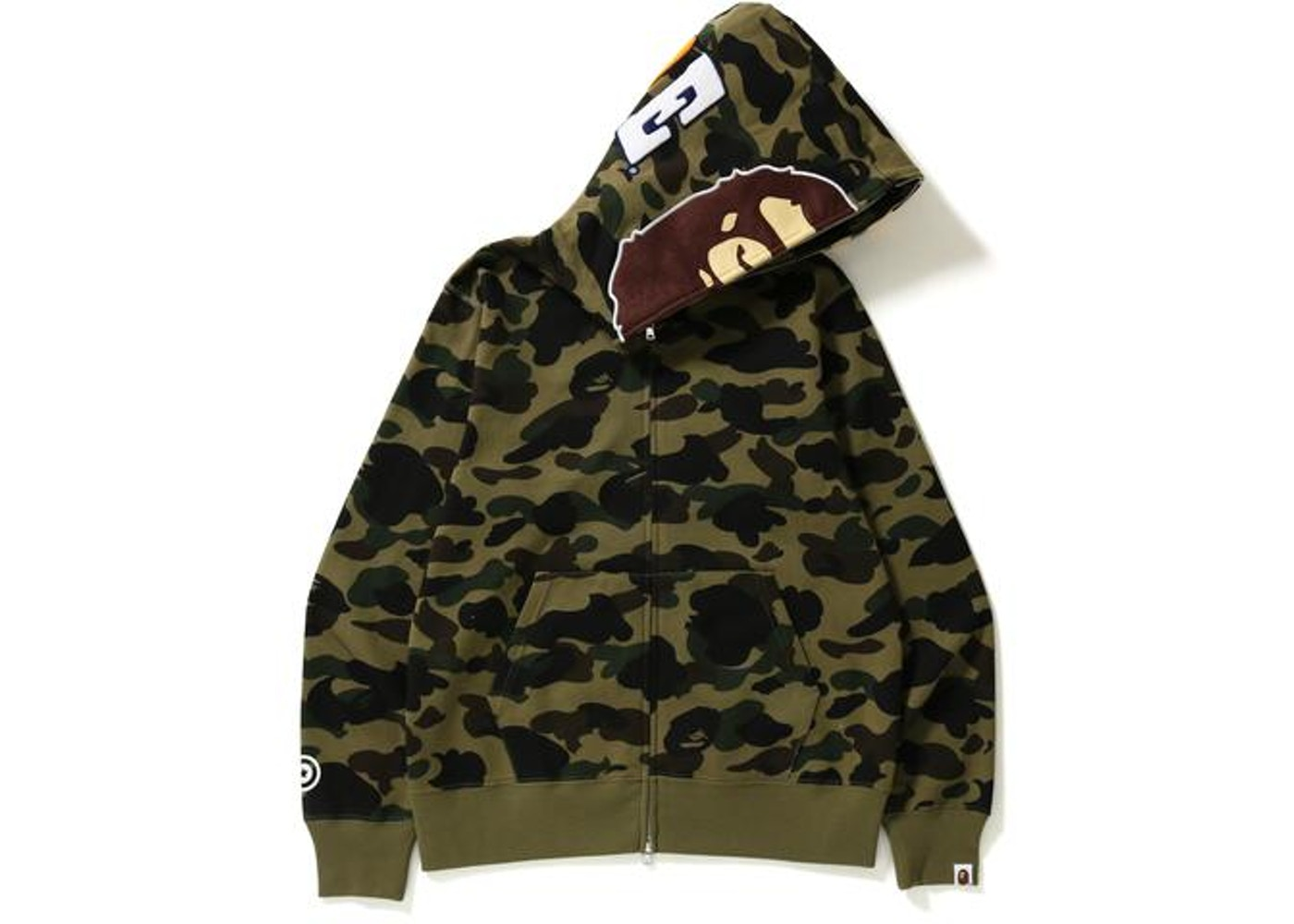 3c890c9c BAPE 1st Camo 2nd Ape Hoodie Green -