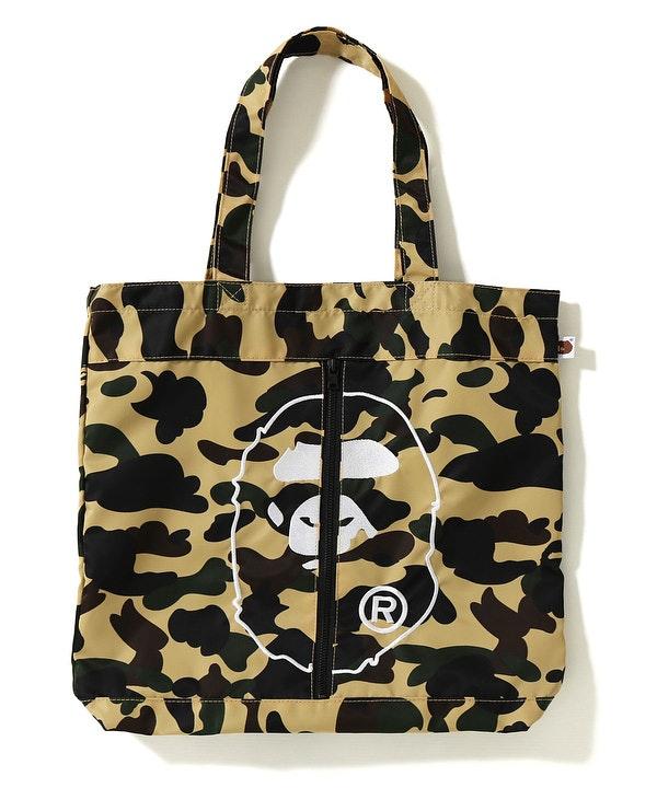 BAPE 1st Camo 2nd Ape Tote Bag Yellow