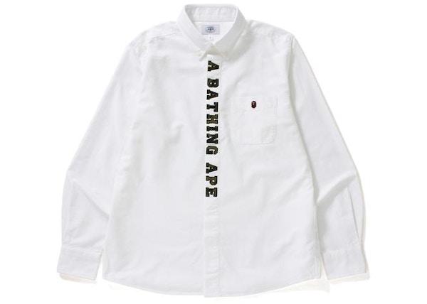 1f5e34e53 BAPE 1st Camo Applique Oxford Bd Shirt Shirt White